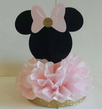 Minnie Mouse Birthday Party or Baby Shower Centerpiece Pink and Gold Table Decor