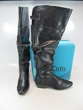 CLIFFS by WHITE MOUNTAN Womens FRAME Black Tall Boots US-11M (0033268-5)