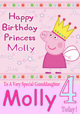 Personalised Birthday Card 5 'PEPPA PIG'  ANY NAME,AGE,RELATVE