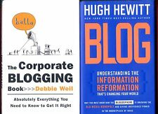 2 books about Blogging - Corporate Blogging Book + BLOG! - Free Shipping