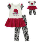 "Dollie & Me 7 10 gril & 18"" doll matching outfit fit american girl birthday"