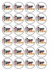 "30 x Stand up to Cancer 1.5"" PRE CUT PREMIUM RICE PAPER Cup Cake Toppers"