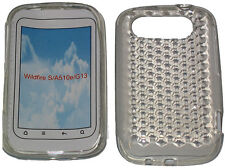 For HTC Wildfire S A510e G13 Pattern Soft Gel Jelly Case Protector Cover Clear