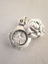 St Michael / Guardian Angel Locket Style Rose Slide Medal Italy