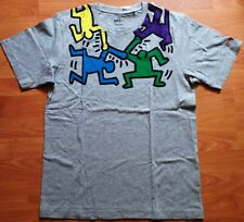 KEITH HARING x UNIQLO 'Dancing Men' SPRZ NY MoMA Art T-Shirt XL Gray **NWT**