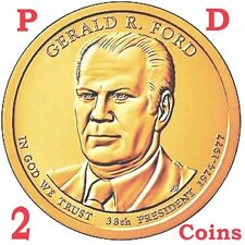 2 coins set 2016 D & P President Gerald Ford Presidential $1 dollar