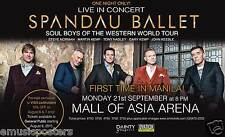 "SPANDAU BALLET ""FIRST TIME IN MANILA!"" 2015 PHILIPPINES CONCERT TOUR POSTER"