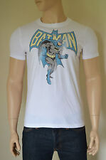 NEW Abercrombie & Fitch Vintage Batman Tee White Superhero T-Shirt S