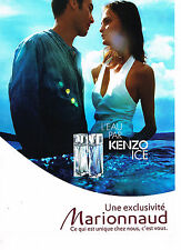 PUBLICITE ADVERTISING 094  2008  ICE   parfum l'eau par KENZO