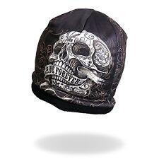 HD Sublimation Black Ride Forever Biker Stocking Banner Skull Cap Beanie Rider