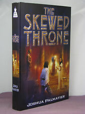 1st,signed by author,Throne of Amenkor 1:Skewed Throne by Joshua Palmatier(2006)