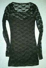 BLANC NOIR Black Lace Dress Top Size Small GOTH GOTHIC LOLITA