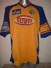 Leeds Rhinos Adult Large Asics Rugby League Shirt Jersey Tetleys Vintage Top H