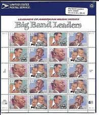 US STAMPS MINT SHEET  BIG BAND LEADERS  32 CENTS, M/NH