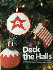KNITTING PATTERN 3 Christmas Tree Decorations Stocking Star Christmas Pudding