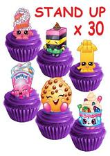 30 Shopkins STAND UP Cupcake Cake Topper Edible Paper Decorations edible