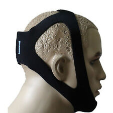 Black Stop Sleep Snoring Apnea Jaw Solution Anti-Snore Chin Support Strap Belt
