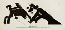 Robert Motherwell: Prints 1977-1979. Rare exhibition poster.