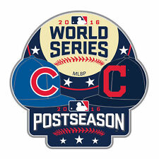 2016 CLEVELAND INDIANS VS CHICAGO CUBS OFFICIAL WORLD SERIES PIN BRYANT LINDOR