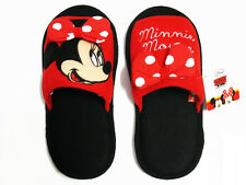 Minnie Mouse Red&Black Slippers US size 6-10 (UK 4-8, EU 36-42) #201