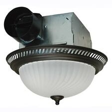 Bronze Bathroom Decor Ceiling Exhaust Ventilation Vent Fan W/ Light Fixture
