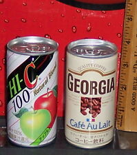 HI-C AND GEORGIA CAFE AU LAIT coffee drink COCA - COLA  CAN PRODUCT'S FULL japan