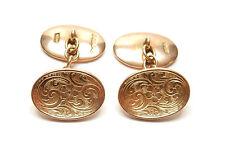 GEMELLI Oro Antico pesante ovale 9 CARATI ORO CHESTER 1913