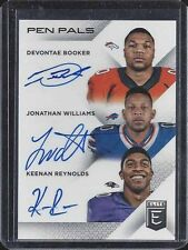 DEVONTAE BOOKER JONATHAN WILLIAMS KEENAN REYNOLDS 2016 ELITE PEN PALS AUTO RC