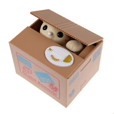 Automated Cat Steal Coin Itazura Piggy Bank Stealing Money Saving Animals Boxes