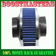 "Universal 3"" Performance Cold Air Intake Bypass Filter Valve Pipe Rubber BLUE"