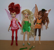 3 Dolls, Tinkerbell & 2 other Fairy Dolls.