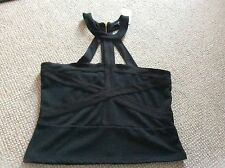 Brand New H&M BLACK Caged Top With Exposed Zip large 12,14,16