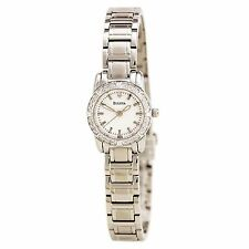 Bulova Women's 96R156 Diamond Bezel Quartz Stainless Steel Dress Watch