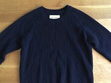 OUR LEGACY Mens Italian Wool Marine Blue Crewneck Sweater Size 46 Small $233