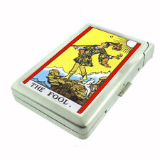The Fool Tarot Card D 90 Cigarette Case Built in Lighter Metal Wallet