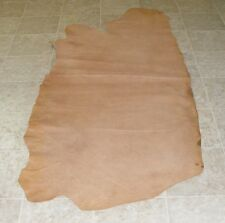 (QXE7508-4) Side of Natural Brown Cow Leather Hide Skin