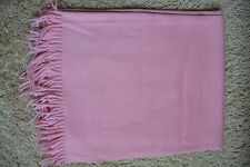 SALE ! Luxurious large new+tags pure cashmere pink Broderie stole shawl Hermes