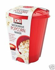 Joie MSC Microwave Popcorn Fast Popper Maker Red Bucket 4 Cups Micro 3 Minutes