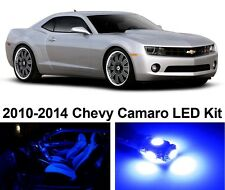 Chevy Camaro 2010-2014 Blue Premium LED Interior Lights Package Kit (4 Pieces)