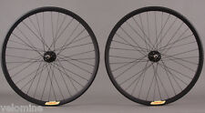 Velocity Deep V ALL BLACK Fixed Gear Track Bike Singlespeed Wheelset Wheels 36 H