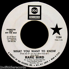 RARE BIRD-What You Want To Know & Hammerhead-Psych Prog Rock Promo 45-ABC #11284