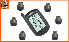 TPMS Wireless Tyre Tire Pressure Monitor Kit 6 Sensors TRAILER / MOTORHOME