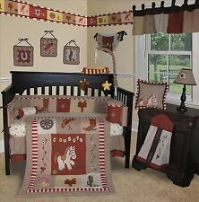 Baby Boutique - Western Cowboy - 14 pcs Crib Bedding Set incl. Lamp Shade