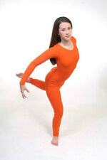 Body Wrappers 217 Adult Size Large (10-12) Orange Full Body Long Sleeve Unitard