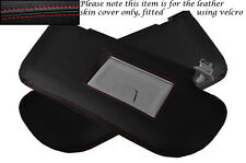 RED STITCHING FITS MAZDA 3 2004-2008 2X SUN VISORS LEATHER SKIN COVERS