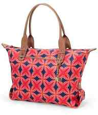 "New STELLA & DOT Navy Red ""HOW DOES SHE DO IT?"" Tote Handbag Satchel"