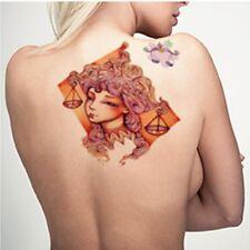 Temporary Tattoo Einmal Tattoo Motiv Sternzeichen Waage wasserfest HB-609