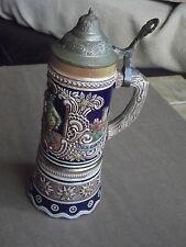 VINTAGE DBGM DRM GERMAN BEER STEIN .REUGE SWISS MUSICAL BOX .