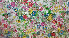 100% Pure Silk Fabric Fun Flower 45 INCHES Width Floral Printed  By Yard P030