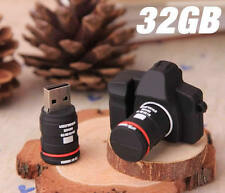 Cartoon SLR DSLR Camera Model 32GB 32G USB 2.0 Flash Memory Stick Pen Drive Disk